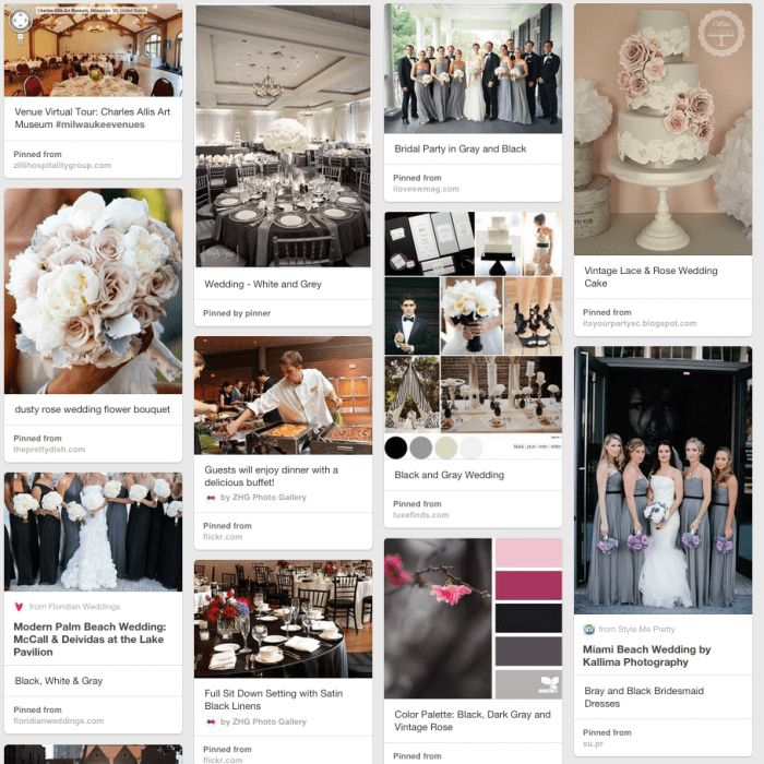 classic, elegant and simple buffet-style wedding