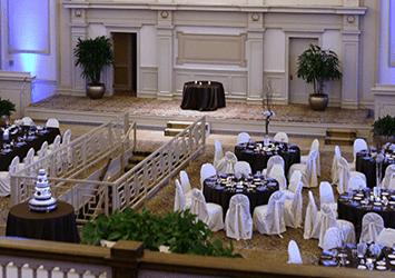 Event setup inside 1451 Renaissance Place.