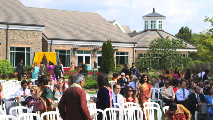 Nayana and Arun's wedding ceremony at Boerner Botanical Gardens.