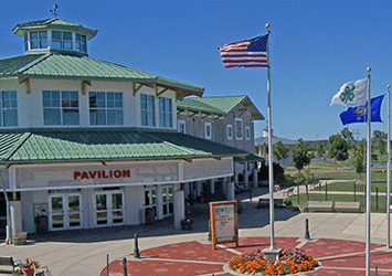 Outside view of the Washington County Park Pavilion