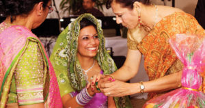 An wedding in traditional Indian fashion catered by ZHG.