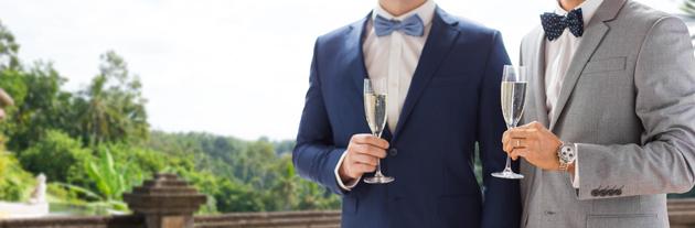 same-sex wedding attire