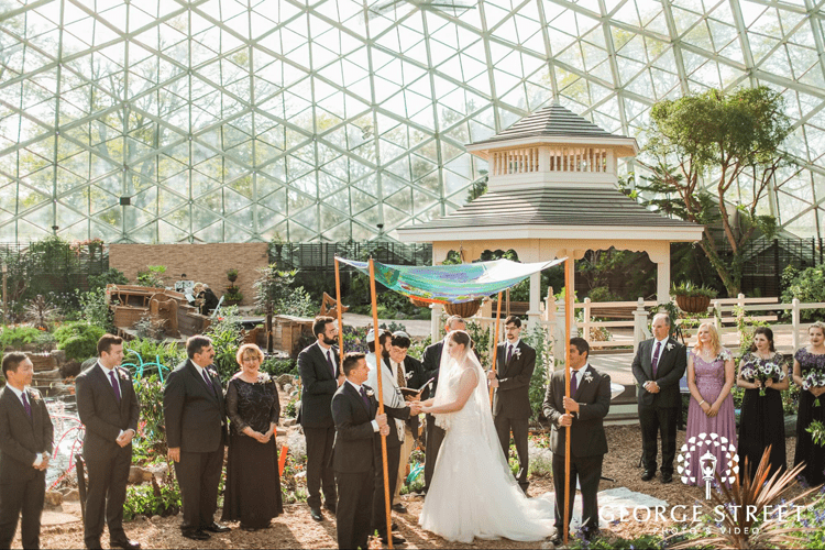 Wedding at The Domes – Mitchell Park Conservatory