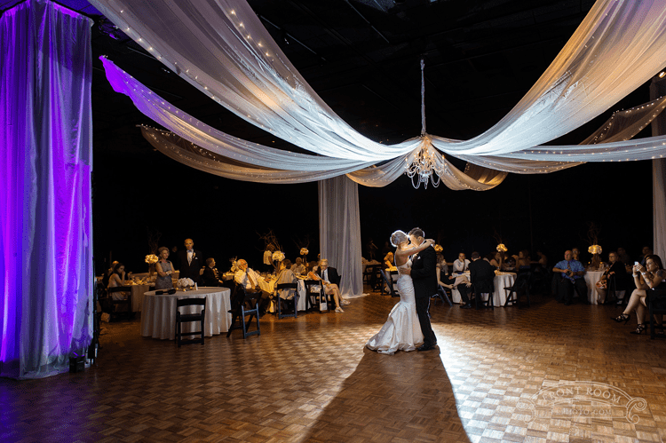 Bride and Groom Dancing at Milwaukee Public Museum