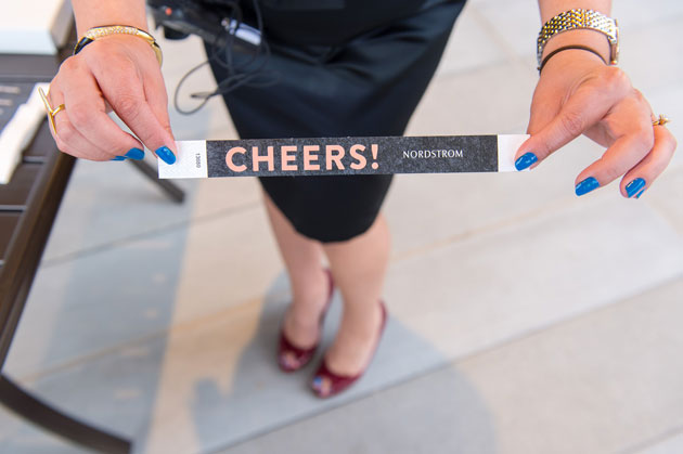 Nordstrom's Grand Opening in Milwaukee Wristbands Cheers