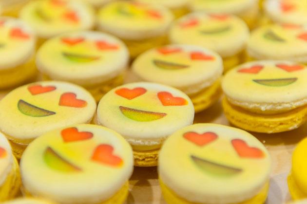 Creative Desserts Emoji Macarons