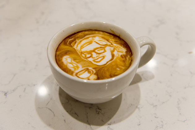World-Class Coffee Artists Masterpiece