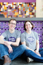 Founders of Purple Door Ice Cream