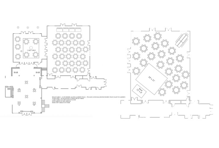 Boerner Botanical Garden Wedding Floor Plans