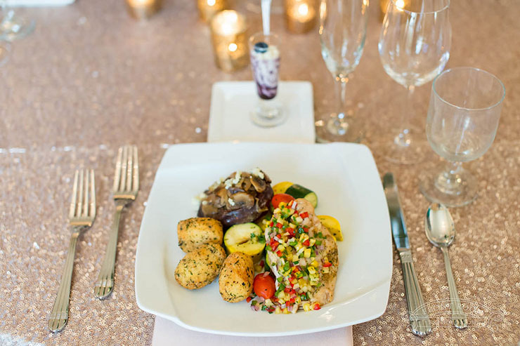 Custom Plated Meal at Milwaukee Wedding