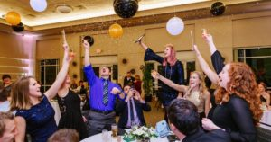 New Years eve celebration at Boerner Botanical Gardens with balloons and drinks
