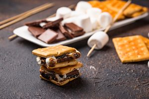 S'mores at Outdoor Adventure Themed Picnic