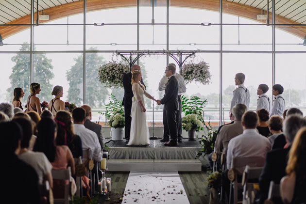 Wedding Ceremony at Milwaukee Community Sailing Center