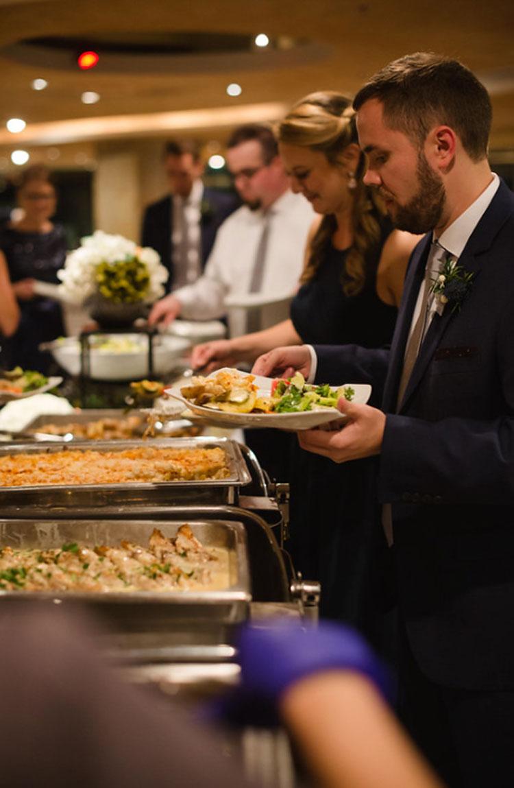 Buffet-Style Food at Wedding