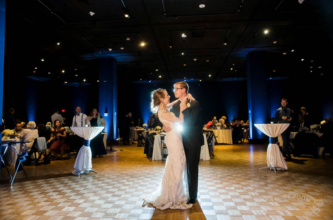 Bride and Groom First Dance at Milwaukee Public Museum Wedding