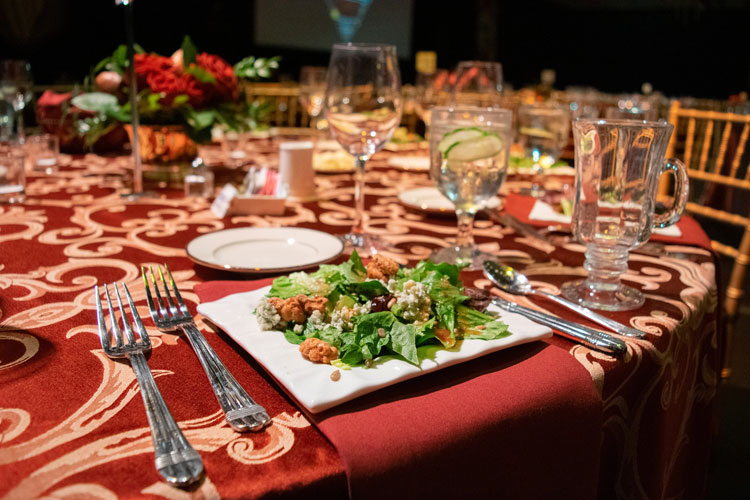 Salad at Plated Fundraiser Gala