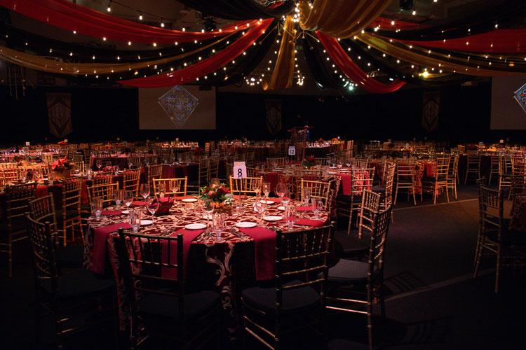 School Fundraiser Gala Set up