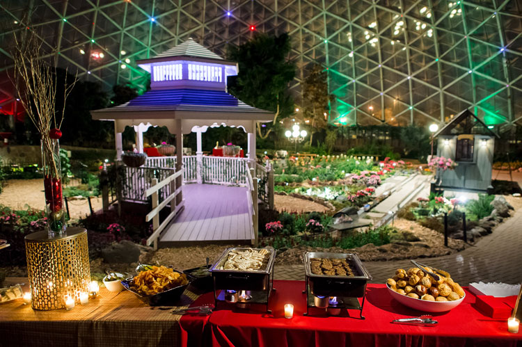 Holiday Party Buffet at The Domes