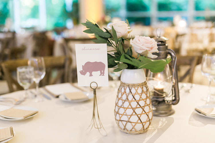 Zoo Themed Wedding Centerpiece