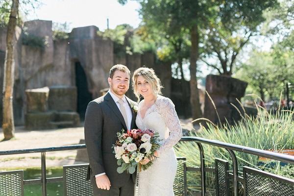 Leah & Jake's Safari Wedding at Milwaukee County Zoo