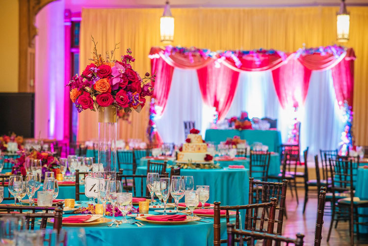 Bright and Bold Colors Wedding