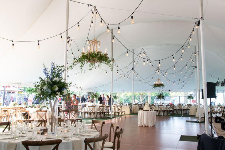 Beautiful Outdoor Tented Wedding with String Lights