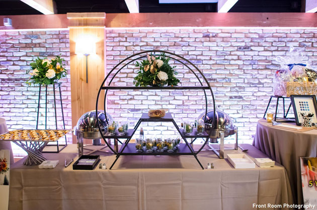 Wedding Food Station with Unique Set Up