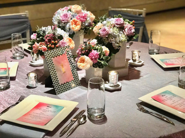 Creative Table Numbers at Wedding Tables
