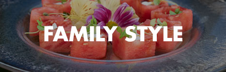 Sample family style menu