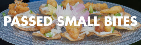 Sample passed small bites menu