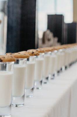 Liz & Andrew Brunch Wedding Milk and Cookies Dessert