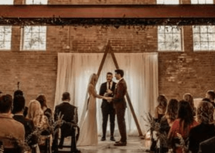 The Factory on Barclay wedding ceremony